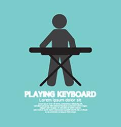 Black Symbol Of A Man Playing Keyboard vector image