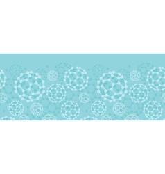 Buckyballs horizontal seamless pattern background vector image