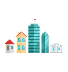 City Buildings In Flat Design vector image vector image