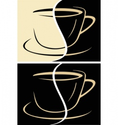 cup of coffee latte vector image vector image