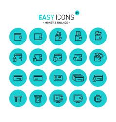 easy icons 09c money vector image vector image