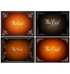 Final frame The End vector image vector image
