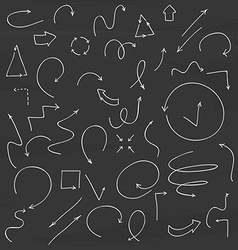 Hand drawn arrow collection vector image