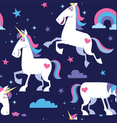 unicorn seamless pattern vector image vector image