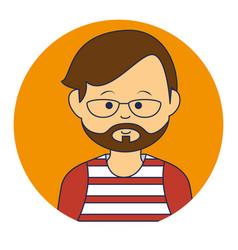 asian man ethnicity avatar character vector image