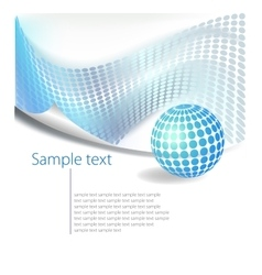 Dotted Abstract template background vector image