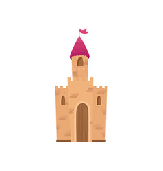 fairy medieval castle cartoon vector image