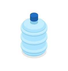 Plastic bottles with water isometric 3d icon vector