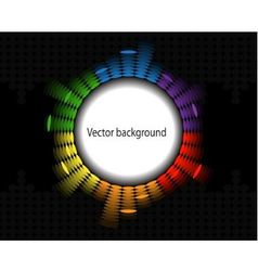 round equalizer vector image vector image