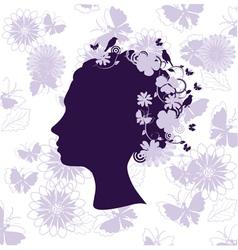 floral head vector image