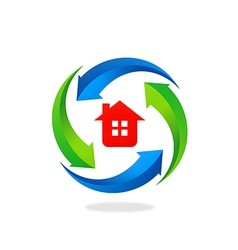 Home house protection tool logo vector