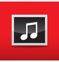 Music button vector image