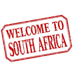 South Africa - welcome red vintage isolated label vector image vector image