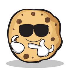 super cool sweet cookies character cartoon vector image vector image
