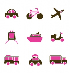 Vehicles icon vector