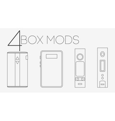 4 thin lines box mods set vector