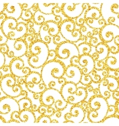 Abstract gold dust glitter swirl seamless vector image