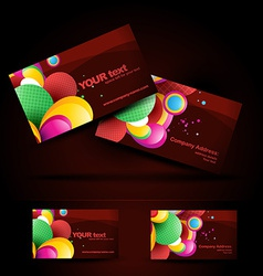 Artistic business card vector