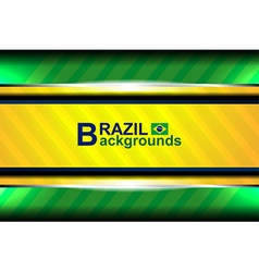 Banner brazil color backgrounds vector