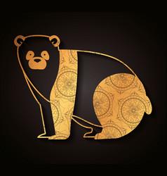 Bear mandala boho style vector