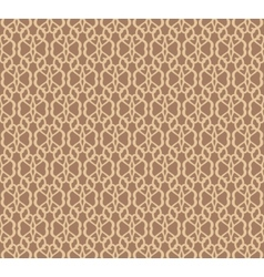 Beige Forged Seamless Pattern on brown background vector image