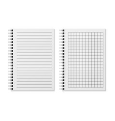 Blank sketchbook realistic padded diary notebook vector