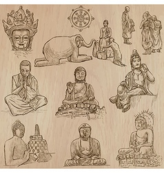 Buddhism - Freehand sketching pack vector