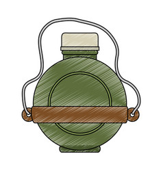 Canteen water bottle vector