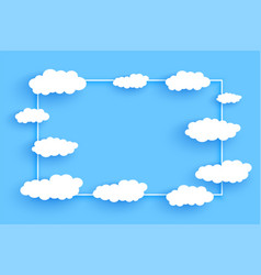 clouds frame background with text space design vector image