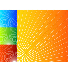 colorful abstract backgrounds with radial lines vector image
