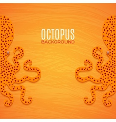 Colorful background with octopuses vector