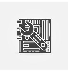 Computer repair logo vector