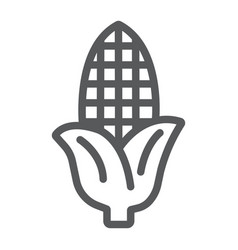 corn line icon farm and harvest sweetcorn sign vector image
