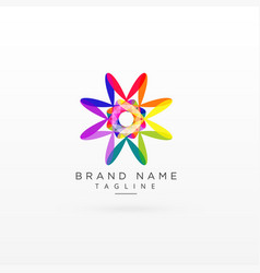 creative abstract vibrant logo design vector image