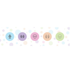 Creature icons vector