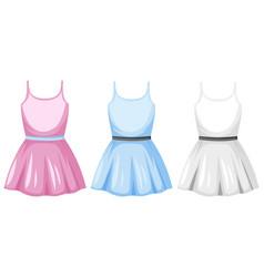 Cute female dress on white background vector
