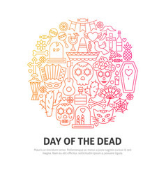 day of the dead circle concept vector image