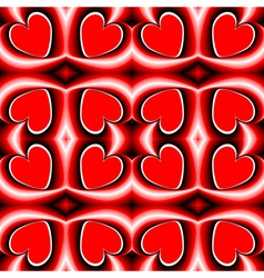 Design seamless heart pattern vector image