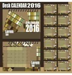 desk calendar 2016 vector image