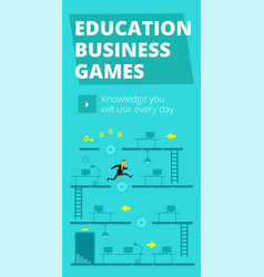 Education business games training game and vector