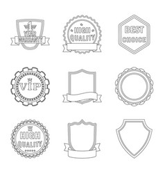 emblem and badge icon set vector image