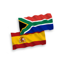 Flags republic south africa and spain on a vector