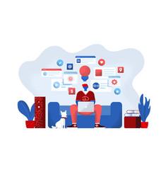 flat modern design online education vector image