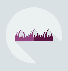 flat modern design with shadow icons grass vector image