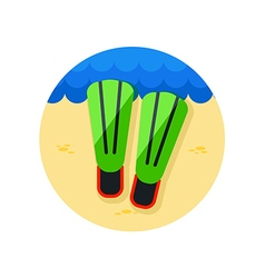 Flippers icon Summer Vacation vector image