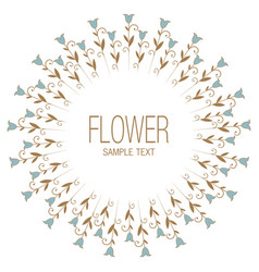 floral wreath of stylized lilies or tulips vector image