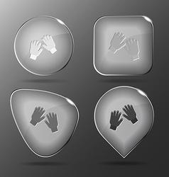 Gauntlets Glass buttons vector