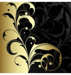 Gold plant vector