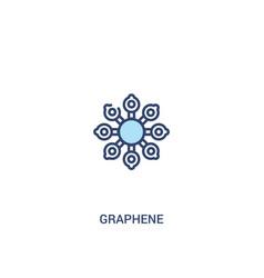 Graphene concept 2 colored icon simple line vector
