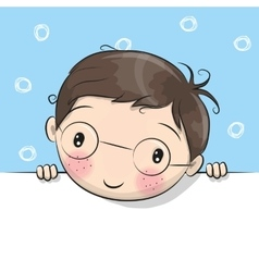 Greeting card cute Cartoon Boy vector